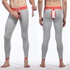 WJ Men's cotton Thermal underpants Ass open front taking Gay wear Hollow , high quality cotton menS long Jhons
