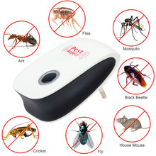 EU US Plug font b Electronic b font Ultrasonic Anti Mosquito Insect Repeller Mouse Cockroach Reject