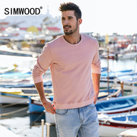 SIMWOOD Brand Hoodies Men Tracksuit 2018 Spring Casual Thick Long Sleeve Sweatshirts Pullover O Neck Man
