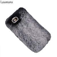 Super Deluxe Luxury Fashion Bling Warm Soft Rabbit Fur 100 Genuine Furry Case For Iphone5s 6