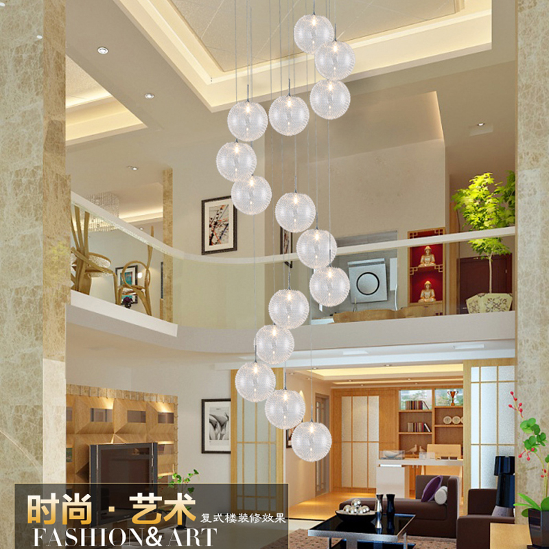 American country industrial wind aluminum ball pendant Nordic clothing store bar restaurant retro staircase pendant lamp importing country 10 inch second link aluminum doors and windows stopper wind bracing wind bracing wind bracing stainless steel