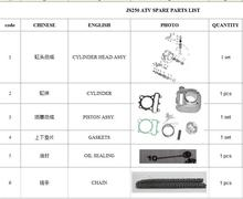 JS171FMM CYLINDER HEAD ASSY/CYLINDER BODY/PISTON ASSY/GASKETS/CHAIN /OIL SEALING SUIT FOR JS-FG