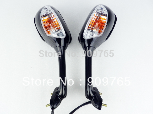 Pair Black Turn Signal mirrors for 2005-2007 Suzuki GSXR GSX-R 600 750 1000 2006 K5 high quality 7 pin turn signal flasher relay fr led indicator gsxr bandit 600 750 1200 gsx 1400 fits suzuki ca199