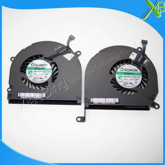 "Brand New Left & Right laptop CPU cooler Fan for Macbook pro 15.4"" A1286 MG62090V1-Q030-S99 MG62090V1-Q020-S99"