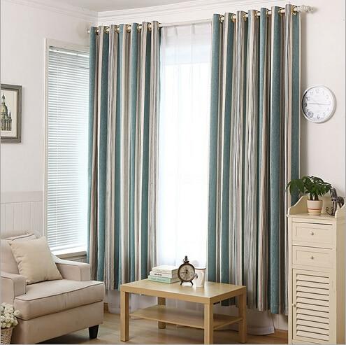 Modern Minimalist Vertical Stripes Chenille Bedroom Curtains Blackout For Living Room Rideaux Pour Le