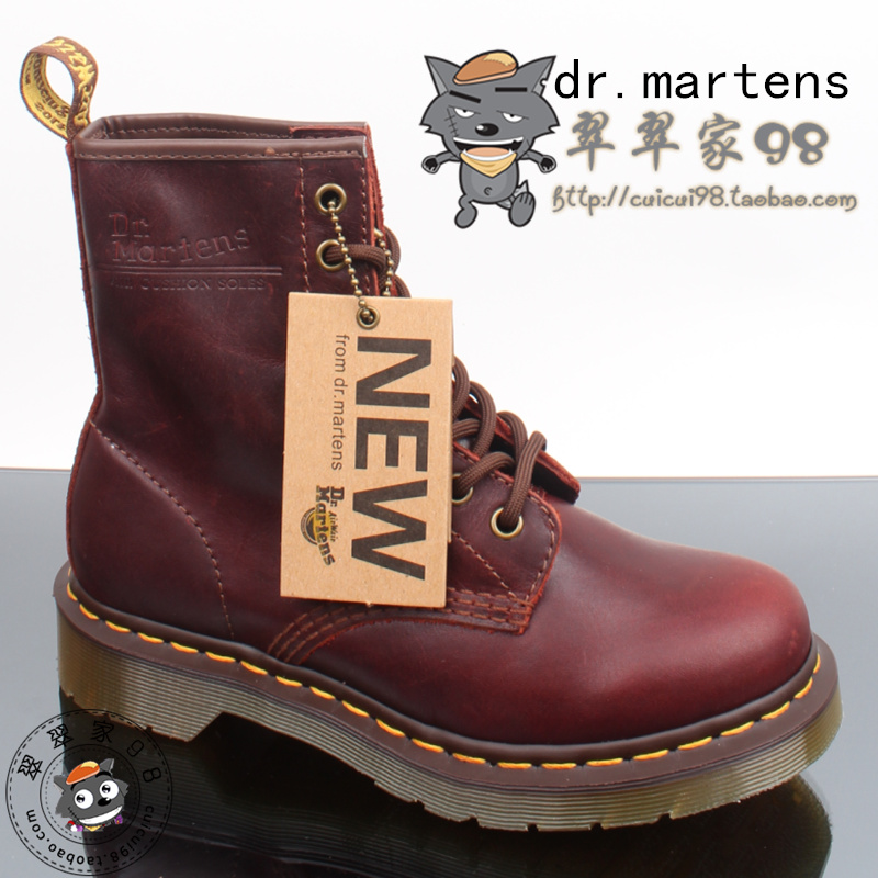 e8e0e0a2ea81 Dr . martens1460 martin shoes 8 martin boots fashion punk shoes high-top  shoes claretred