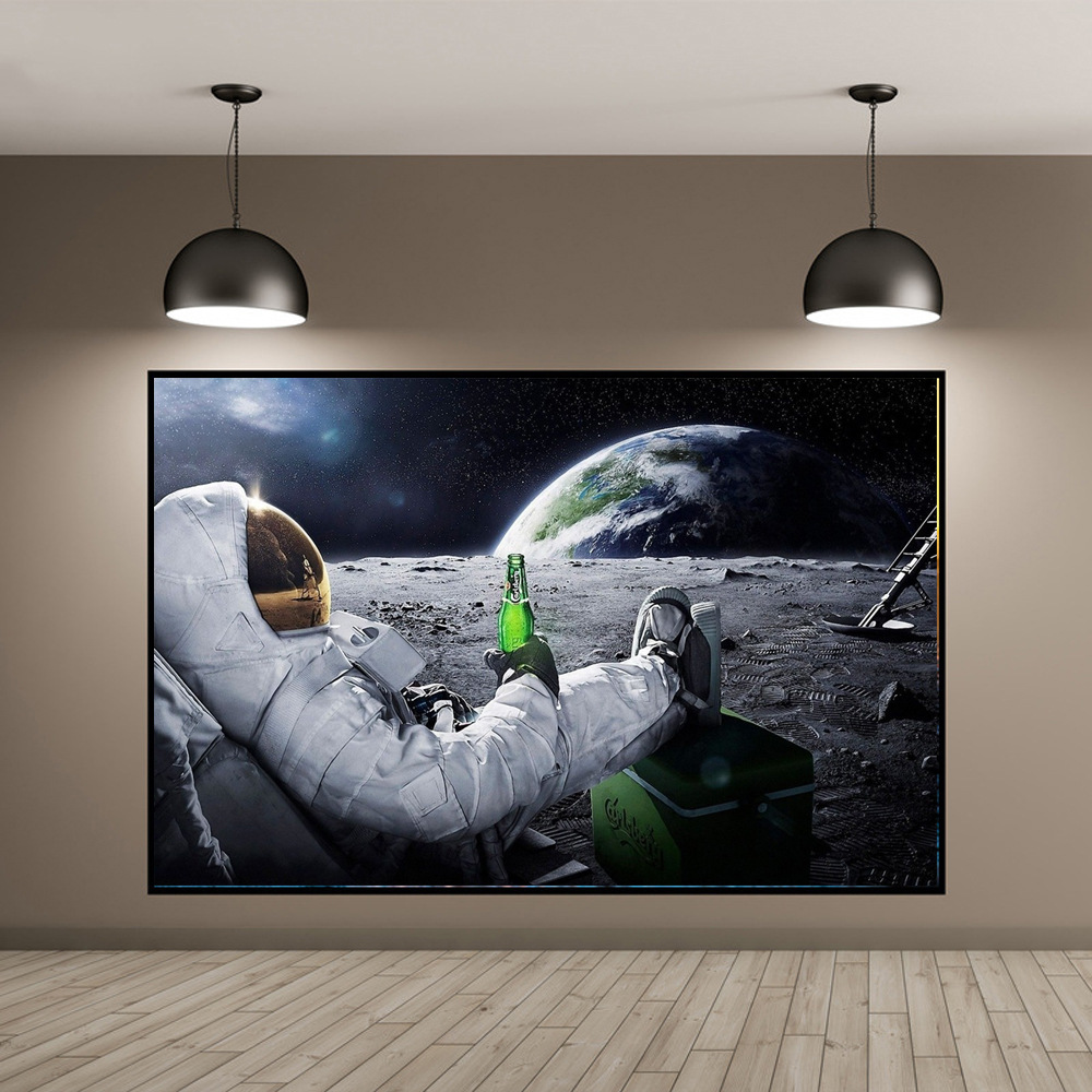 KEDODE Explosions on the moon astronaut beer poster ...