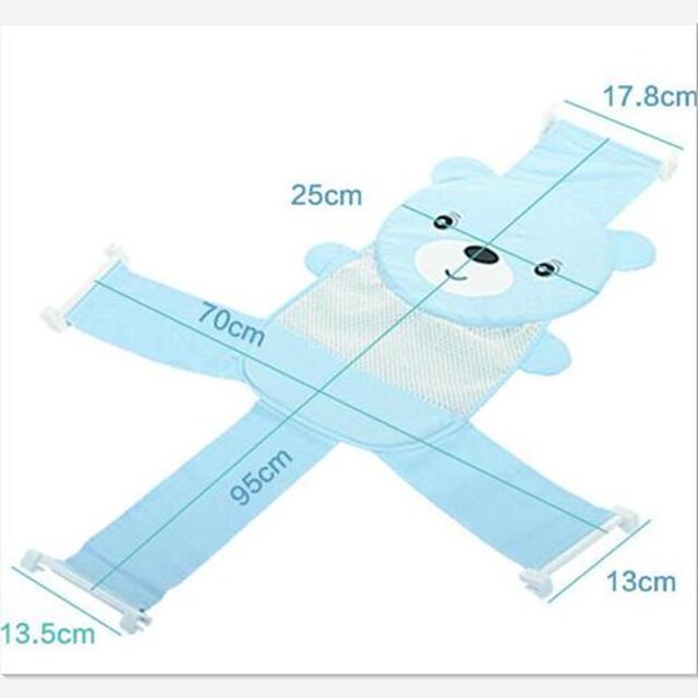 High-end Engrossar Antiderrapante Massagem Conforto Macio Dos Desenhos Animados Cross-em forma de Líquido Do Banho Do Bebê Toalha de Banho Do Bebê bebê Recém-nascido Definir banho de Suspensão Cama