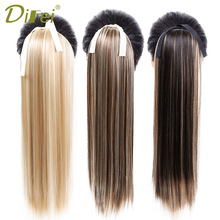 DIFEI Long Straight Clip In Hair Tail False Hair Ponytail Hairpiece With Hairpins Syntetisk Hår Pony Tail Hair Extensions