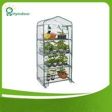 Hyindoor Садовые принадлежности сельское хозяйство теплица ПВХ осыпи мини парниковых загара для садоводства Растений Солнечный Serre Jardin