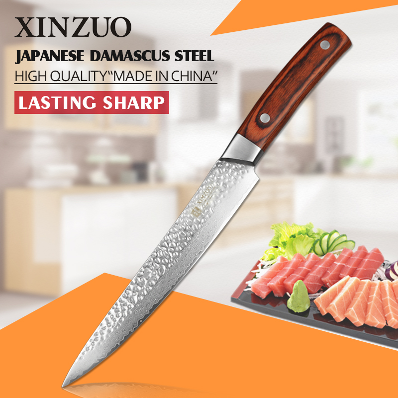 2016 NEWEST XINZUO 8 inch cleaver font b knife b font Japanese 67 layers Damascus Steel