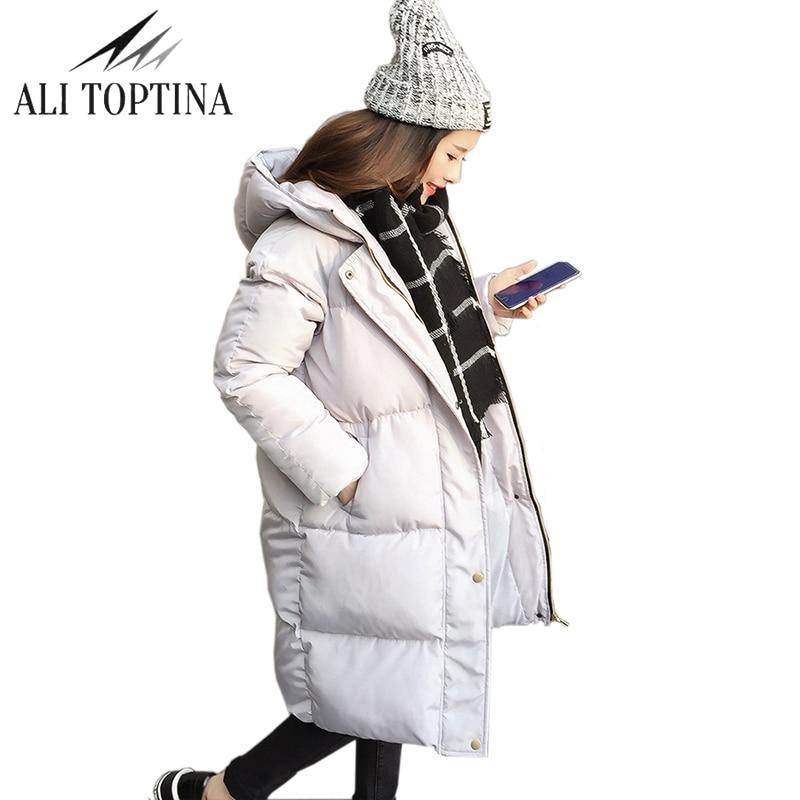 62b4b8a6b Chaqueta gruesa de invierno 2018 abrigo para mujer abrigo Parka talla grande  abrigo largo con capucha abrigo de nieve acolchado para mujer en Parkas de  La ...