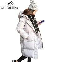 Thick 2018 Winter Jacket Coat Women Down Parka Coat Plus Size Female Long Warm Hooded Coat Snow Wear Wadded Padded Lady Jacket