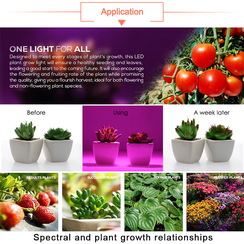 Купить с кэшбэком LED Grow Light E27 Lampada LED Grow Lamp Full Spectrum 4W 3W Indoor Plant Lamp IR UV Flowering Hydroponics