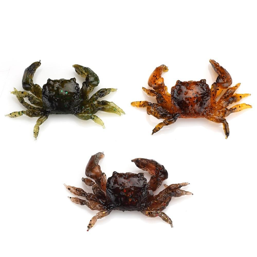 3pcs/lot Soft Baits Soft Crabs Lures Baits Artificial Lure with Hooks Mix Colors 10cm 30g Luminous Lures fish like 30pcs lot fishing soft lure pesca simulate artificial lures kit bait with hooks mix colors