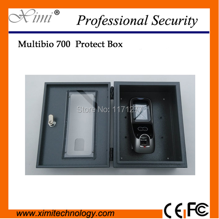 High quality protect box with key protect ZK Multibio700 /iface7 face access control metal protect box protect cover biometric face access control zk face time attendance and access controller iface7 multibio 700 door security controller