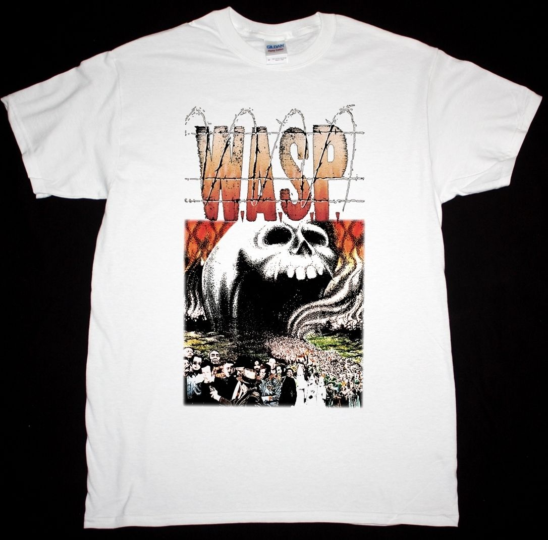 W.A.S.P. THE HEADLESS CHILDREN WHITE T SHIRT HEAVY METAL BLACKIE LAWLESS WASP Summer Fashion Funny Print T-Shirts Top Tee