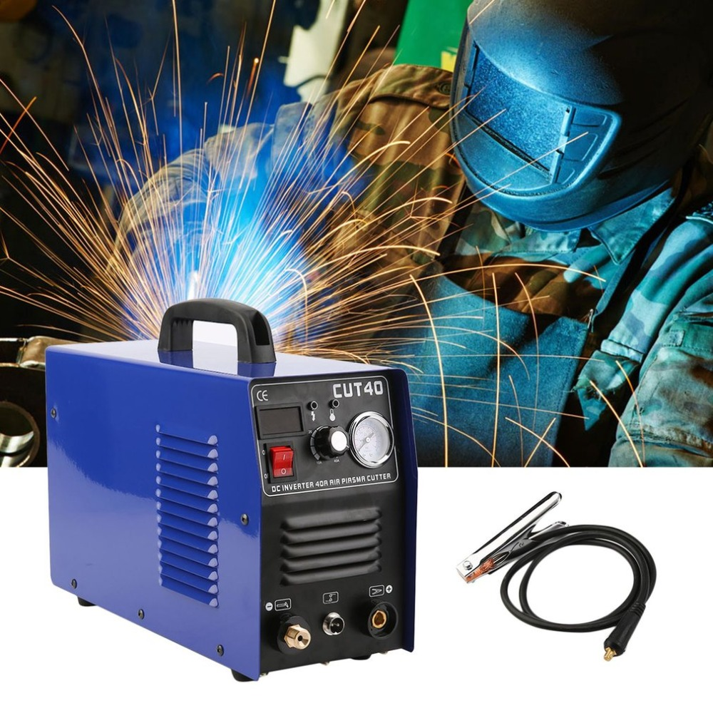 CUT40 Professional 50A Inverter Digital Air Plasma Cutter Machine 220V Plasma Cutting Machine Cutter Welding Machine quality assurance panasonic air plasma cutting accessories reasonable price tips plasma electrodes