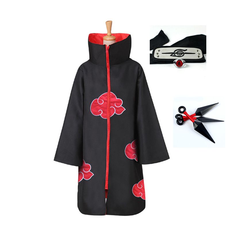 Classic Anime Naruto Cosplay Costume Akatsuki Uchiha Itachi Shuriken Forehead Headband Accessories Suits Cosplay Accessories