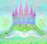 Thin Fabric Cloth Printed Photography Background Children S Castle Backdrop 5ft X 7ft D 750