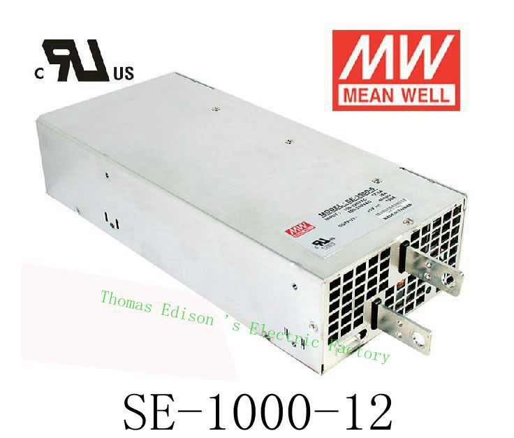 power suply Original MEAN WELL unit ac to dc power supply SE-1000-12 1000W 12V 83.3A MEANWELL dc shoes кеды dc heathrow se 11