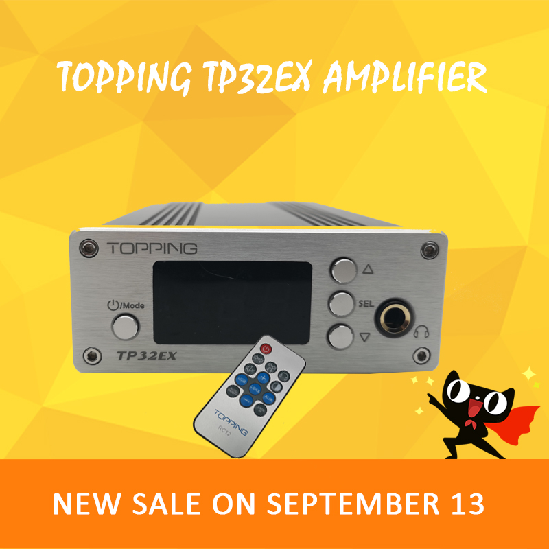 TOPPING TP32EX audio amplifier 2.1 dac audio hifi power preamp class d amplifier digital amplifier amplificador audio topping nx3 portable earphone hifi stereo audio amplifier amp tpa6120a2 opa2134