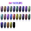 Belle Fille 10 Pcs Chameleon Gel 10ml UV Gel Glue Soak Off Long Lasting 24 Colors Fashion Nail Art Sky Gelpolish Lacquer Varnish