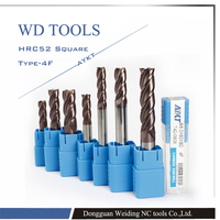 Free Delivery New 5pcs Set 3 4 5 6 8mm Four Flutes Solid Carbide End Mill