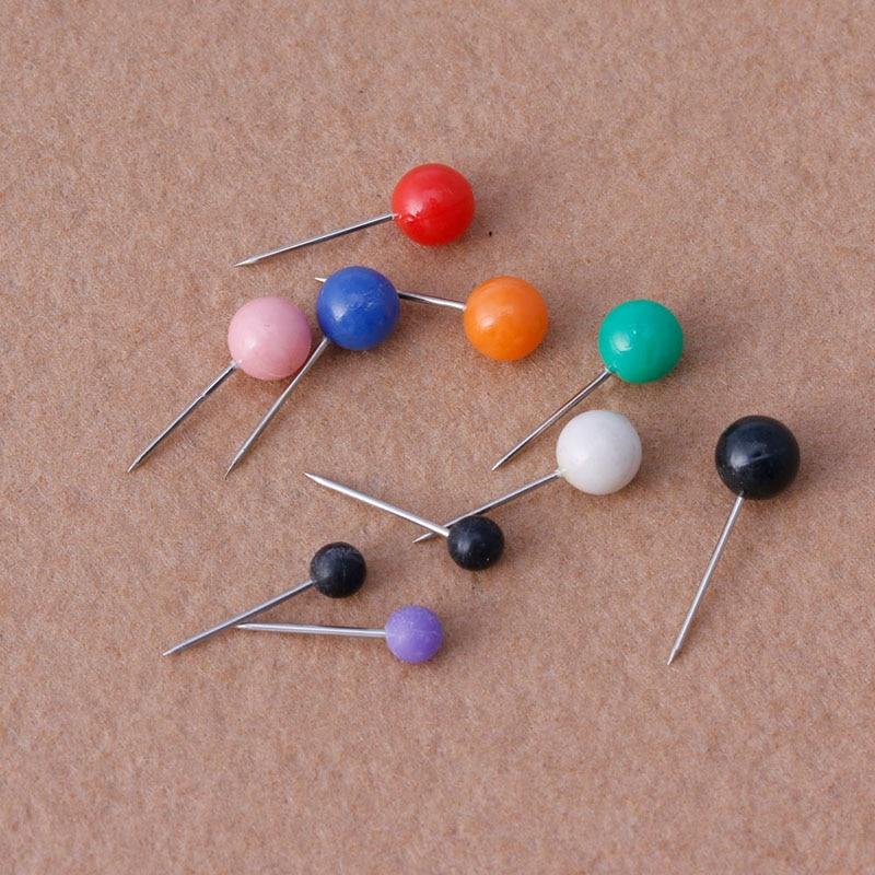50pcs/Set New Office Thumbtacks Push Pins Metal Pin Office&School Supplies Cork Wall Nails Photo Wall Studs