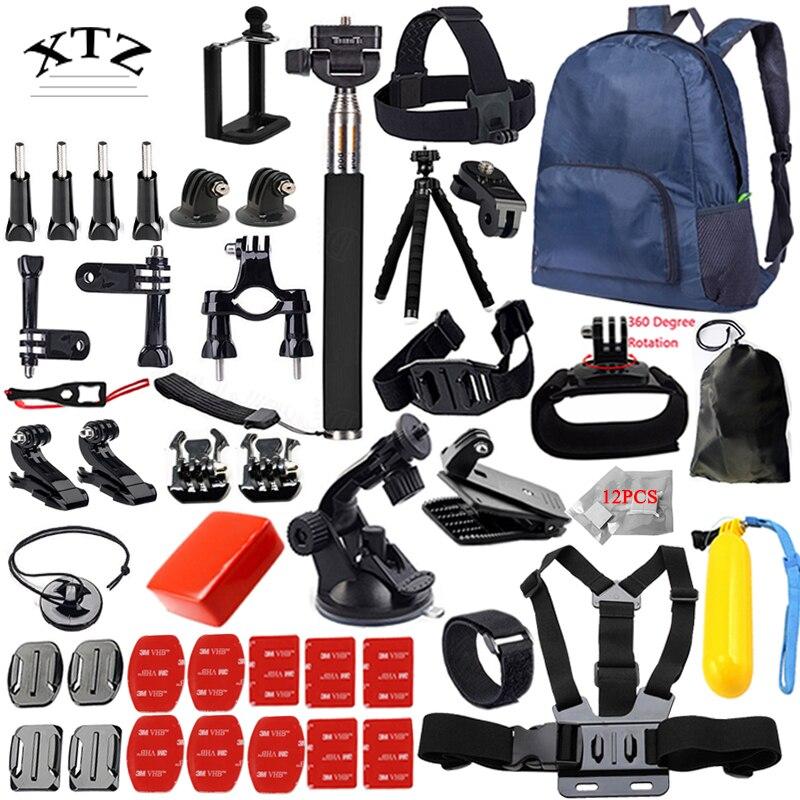 For all Gopro Accessories set for go pro hero 5 4 3 kit mount for SJCAM SJ4000 / xiaomi yi camera / eken h9 tripod 14L margaretta swigert gacheru creating contemporary african art art networks in urban kenya