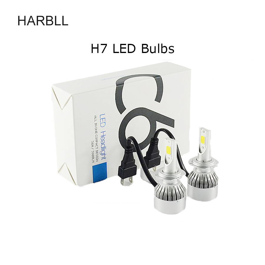 Super Bright Car LED Headlight Kit H4  Hi/Lo H1 H3 H7 H8 H9 H11 9005 HB3 H10 9006 72W COB Replacement Bulbs 3000K 4300K 6000K car led headlight kit led with fan h1 h3 h4 h7 h8 h9 h10 h11 h13 9005 hb3 9006 9004 9007 9005 hi lo for car hyundai toyota