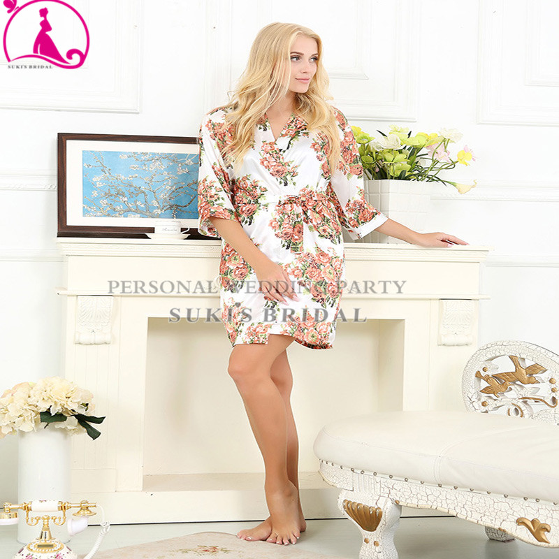 9 Colors Floral Knee Length Maternity Hospital Gown Delivery Robe ...