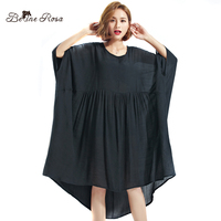 BelineRosa 2017 Big Size Dress Plus Size Women Clothing 5XL 6XL 7XL Black Dresses For Women