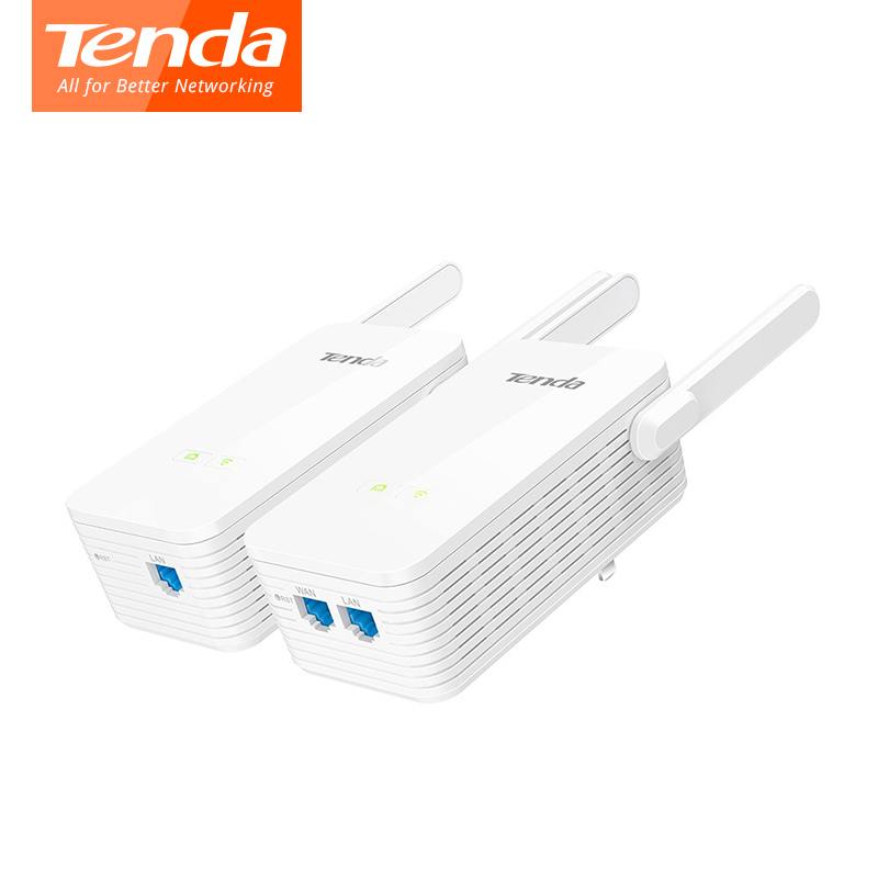 цена на 1 Pair Tenda PH15 Powerline Adapter 1000Mbps Gigabit PLC Modem Homeplug wifi Router 2*Antennas Network Powerline Adapter