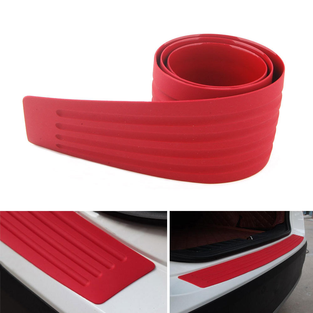 BBQ@FUKA 1pcs Car-styling Rubber Door Rear Sill Guard Car SUV Body Bumper Protector Trim Covers Strip Red 35 for VW golf mk7 car styling abs chrome door body mouldings protection liner garnish covers strip 4pcs for toyota land cruiser lc200 2008 2017