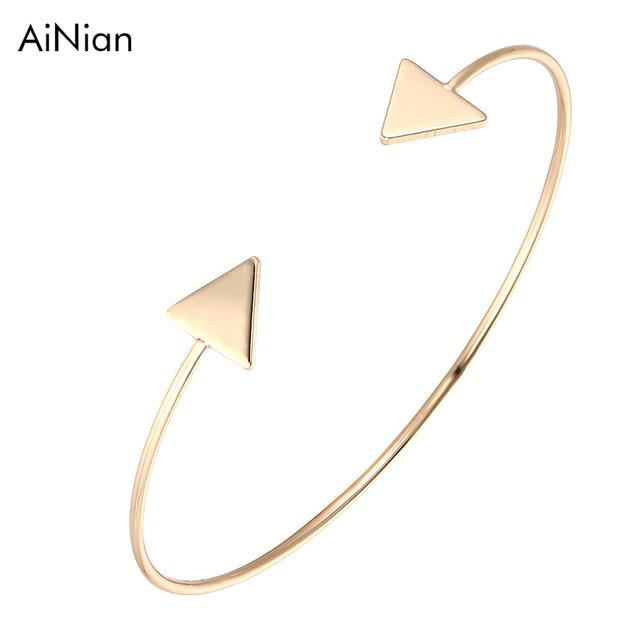 3 Color Punk Arrow Bracelets & Bangles Fashion Gold Color Punk Open Bangle F