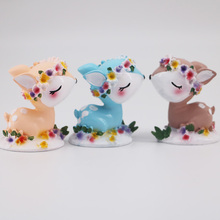 Birthday Cake Decoration Ornaments Flowers Elk Crafts Accessories Home Girl Car