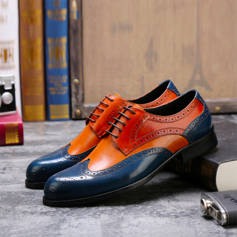 SIZE 37--46 Europe and the United States men's explosion of leather shoes leather shoes UK business code men's dress shoes free shipping europe and the united states set foot business mens casual shoes