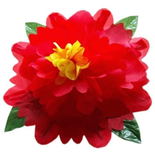 Production de pivoine (100 cm, couleur jaune/rouge/bleu/rose disponible) tour de Magie drôle scène magique main vide apparaissant fleur Magie