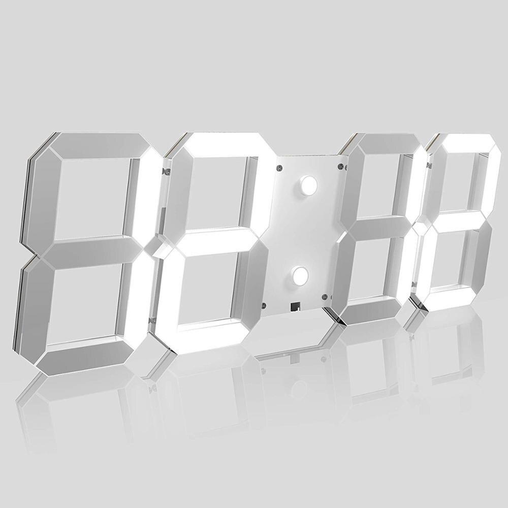 New platic clocks fashion watches 3d real big wall clock rushed mirror sticker diy living room