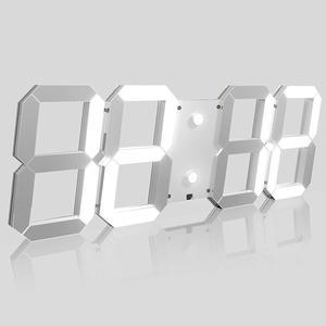 New platic clocks fashion watches 3d real big wall clock rushed mirror sticker diy living room decor free shipping Kosda