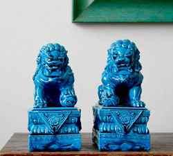 Ein Paar Keramik Porzellan Foo Hund Foo Löwe