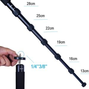 Image 3 - Manbily A 555 160 cm/63 inch Aluminium Reizen Monopod Statief Eenpootstatief Stok, KB 0 Balhoofd, m2 Base voor Canon Nikon Sony DSLR Camera