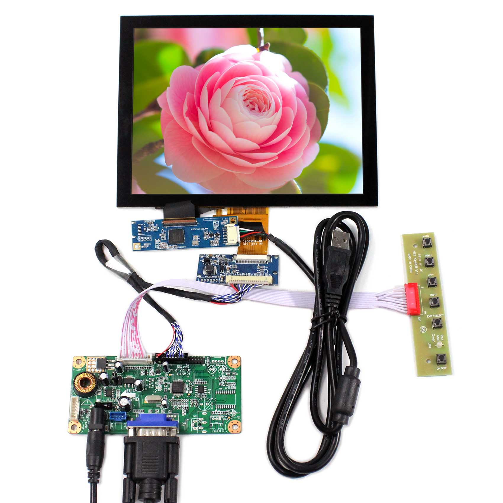 VS080TC-A1 Backlight WLED VGA LCD Controller Board RT2270C-A 8inch Capacitive Touch LCD Screen 1024x768 EJ080NA-04C цена и фото