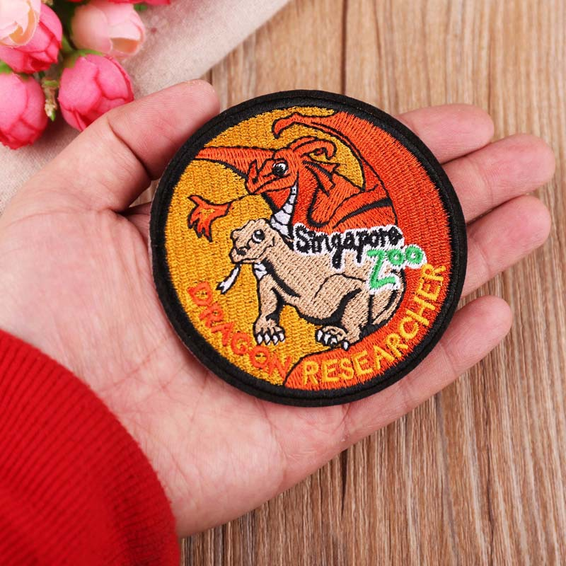 VIPOINT embroidery oil painting patches cartoon patches badges applique patches for clothing YX 183 in Patches from Home Garden