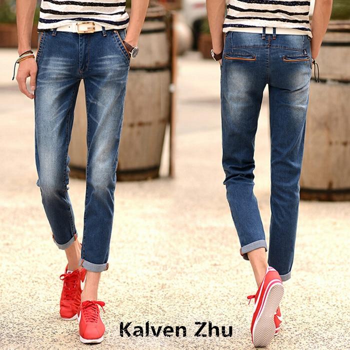 d2affceeeb3d5 Azul Mans Jeans Hombres 2015 Vaqueros Pantalones Verano Moda W4Ua6n6xqp