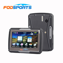 Fodsports IPX7 waterproof motorcycle GPS 4.3 inch FM bluetooth motorbike navigator 8G 256MB RAM Moto navigating(China)