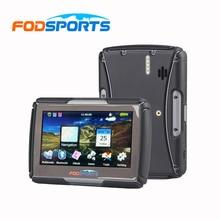Fodsports IPX7 waterproof motorcycle GPS 4.3 inch FM bluetooth motorbike navigator 8G 256MB RAM Moto navigating