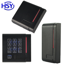 Proximity EM ID Card Keypad Reader 13.56Mhz MF IC RFID Keyfob Readers with WG26&34 Output for Access Control System new arrival k5 waterproof id card reader with keypad for access control system wiegand26 card reader weigand card access reader