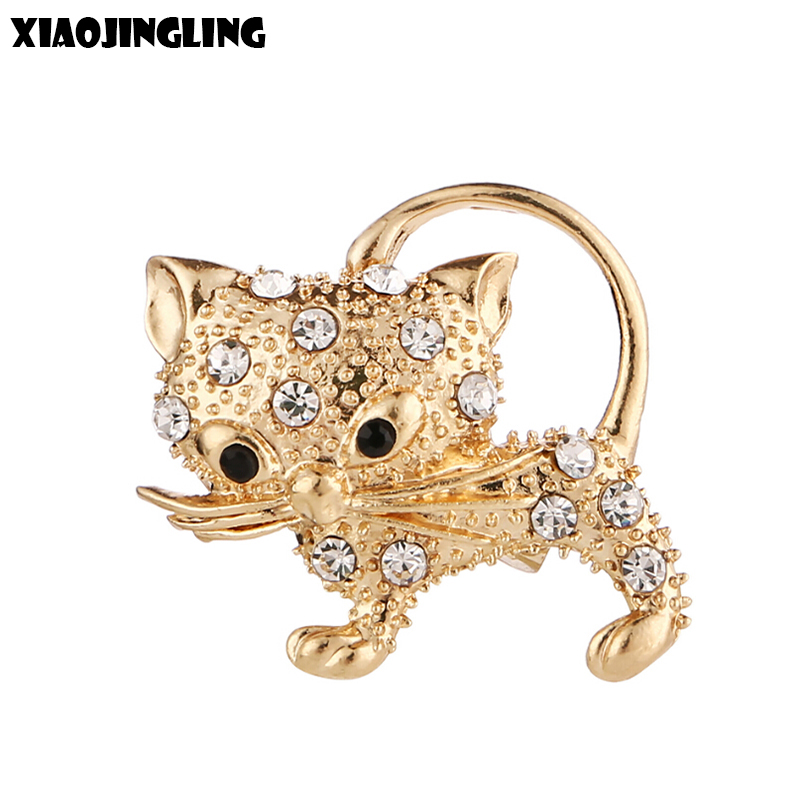 Wholesale Cheap Crystal Brooch Pin Wedding Jewelry Lovely Animal Insect Rhinestone Gold Plated Brooches for Women